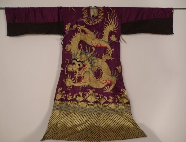 23A: A Chinese purple costume dragon robe