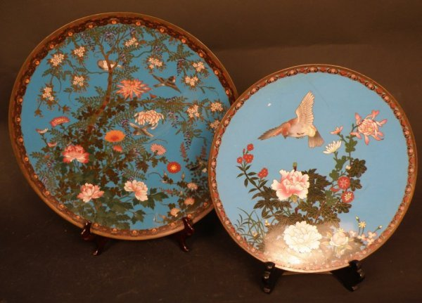 7: 2 pcs. of Japanese Cloisonne Charges