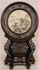 100: A Chinese Magnificent Zi Tan Panel Table Screen
