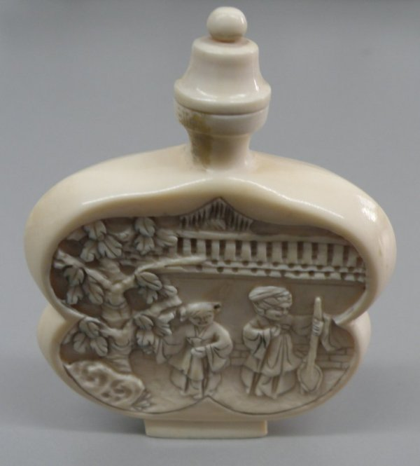 3A: A Chinese Ivory Snuff Bottle