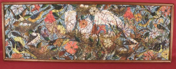 """18: Gessner Abelard (Haiti, 1922) """"Birds and Flowers"""""""