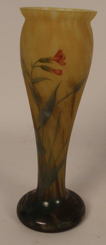 6: Nancy Art Glass Vase, snd on base