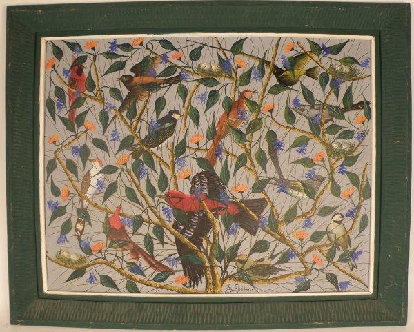 "19: Gessner Abelard (Haiti, 1922) ""Birds, Branches and"