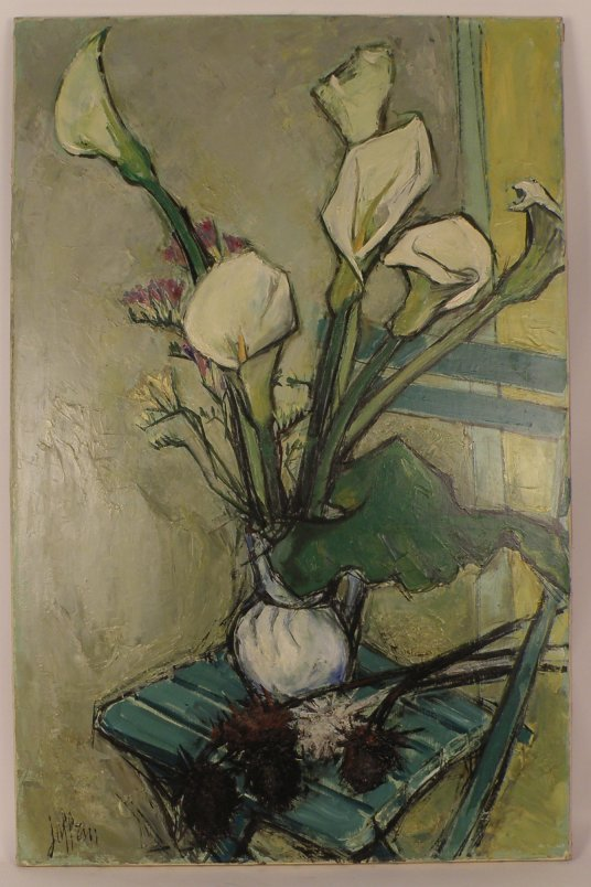 """17: Joffrin, """"Still Life with Vase of Flowers"""", o/c,"""