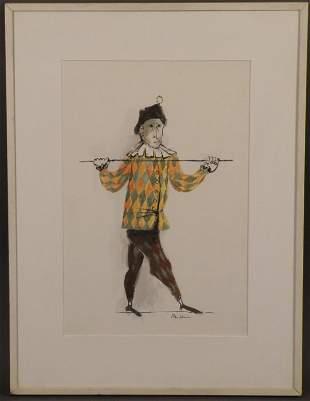 "67: Ben Shahn (NYC, 1898-1969) ""Harlequin"""