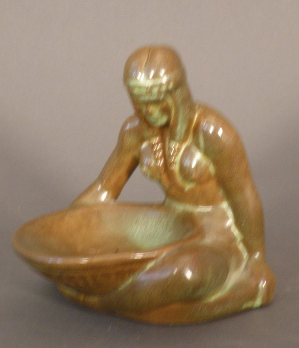 14: Pottery Figure of a Seated American Indian,