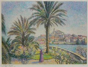 "H. Claude Pissarro ""Le Palmier Jardin..."""