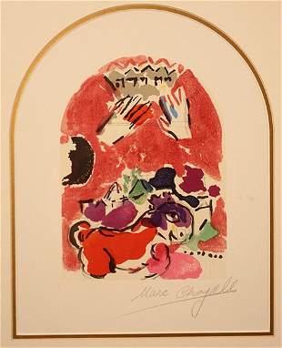 Marc Chagall Windows Lithograph