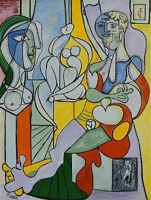 """After Picasso """"Le Sculpture"""" Painting"""