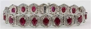 Fancy Ruby & Diamond Bracelet