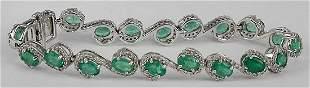 Fancy Emerald & Diamond Bracelet