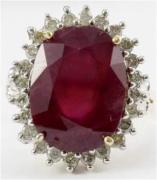 Fancy Ruby & Diamond Ring