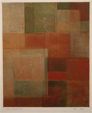 """Abstract Litho by Jim Seale """"Color Series III"""""""