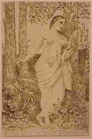 """Pierre Puvis de Chavannes """"Le Fileuse"""""""