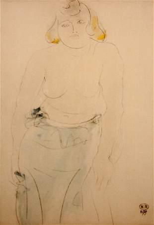 A. Rodin Woman Painting