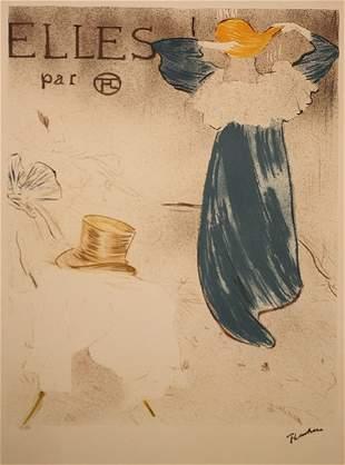 """Toulouse Lautrec Litho """"Elles Par'"""