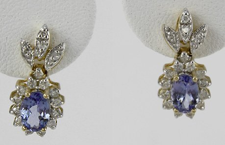 1003: Tanzanite & Diamond Earrings