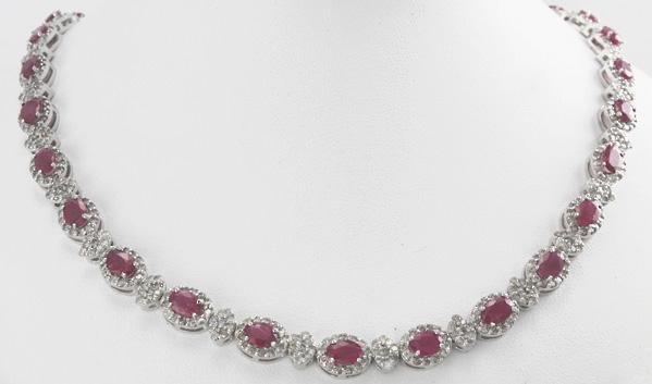 1020: Ruby & Diamond Necklace