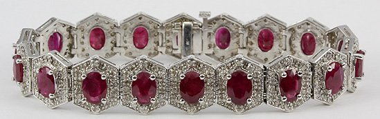 1023: Fancy Ruby & Diamond Bracelet