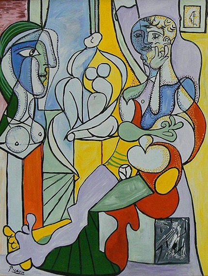 "1042: After Picasso ""Le Sculpture"" Painting"