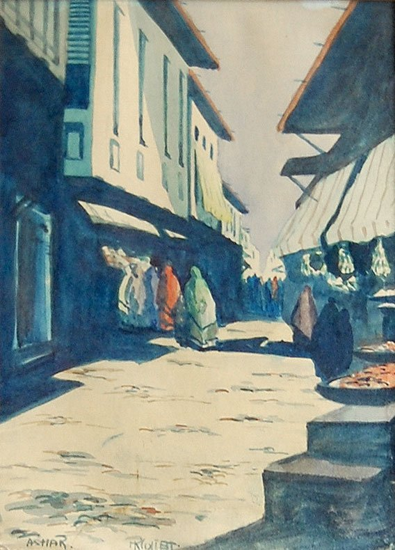 Ashar - Orientalist watercolor