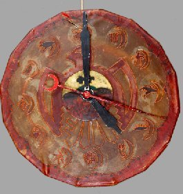 Antique Native American Astrological drum clock