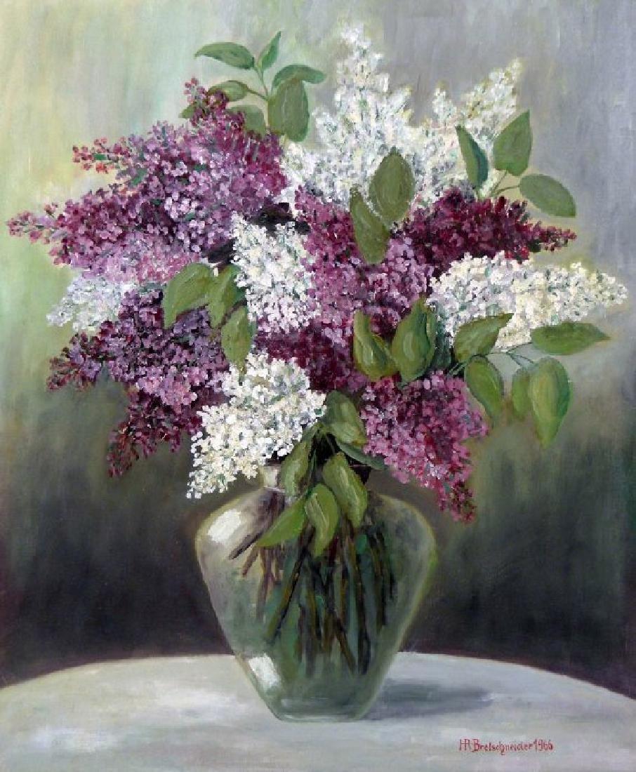 Bretschneider H.R. (German 20th c); Vase With Flowers
