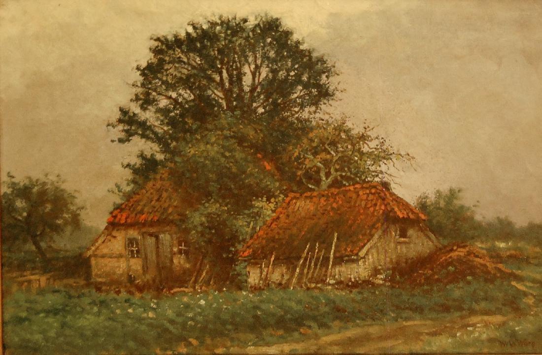 W. van der Ware (Dutch 19th c); Landscape