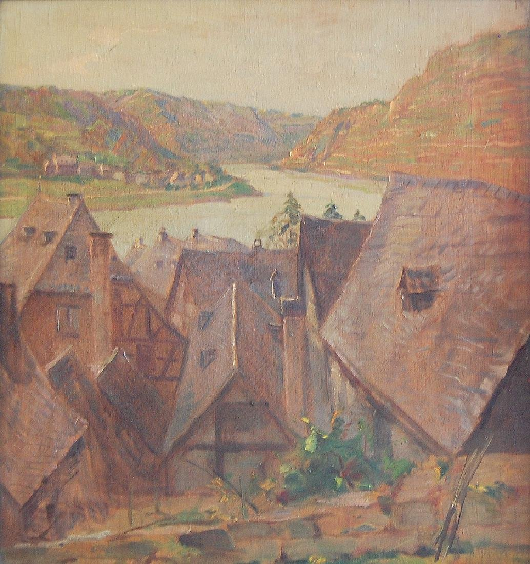 Denzel Anton (German 1888-1962); Landscape II