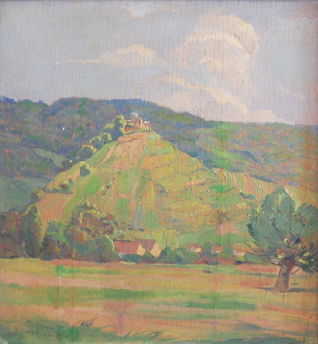 Denzel Anton (German 1888-1962); Landscape III