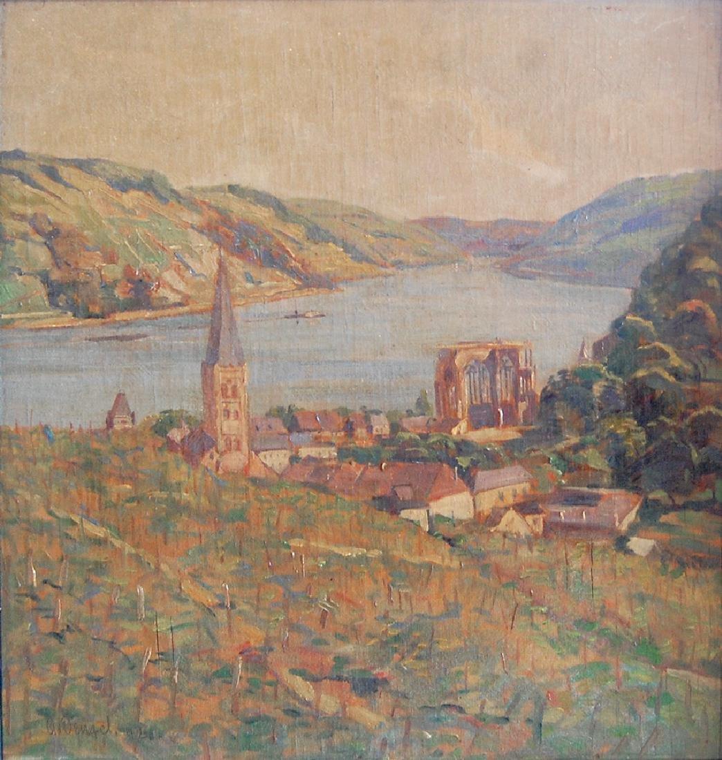 Denzel Anton (German 1888-1962); Landscape IV