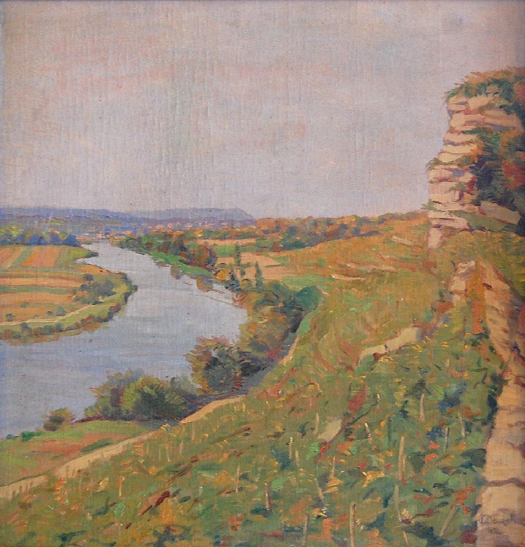 Denzel Anton (German 1888-1962); Landscape I