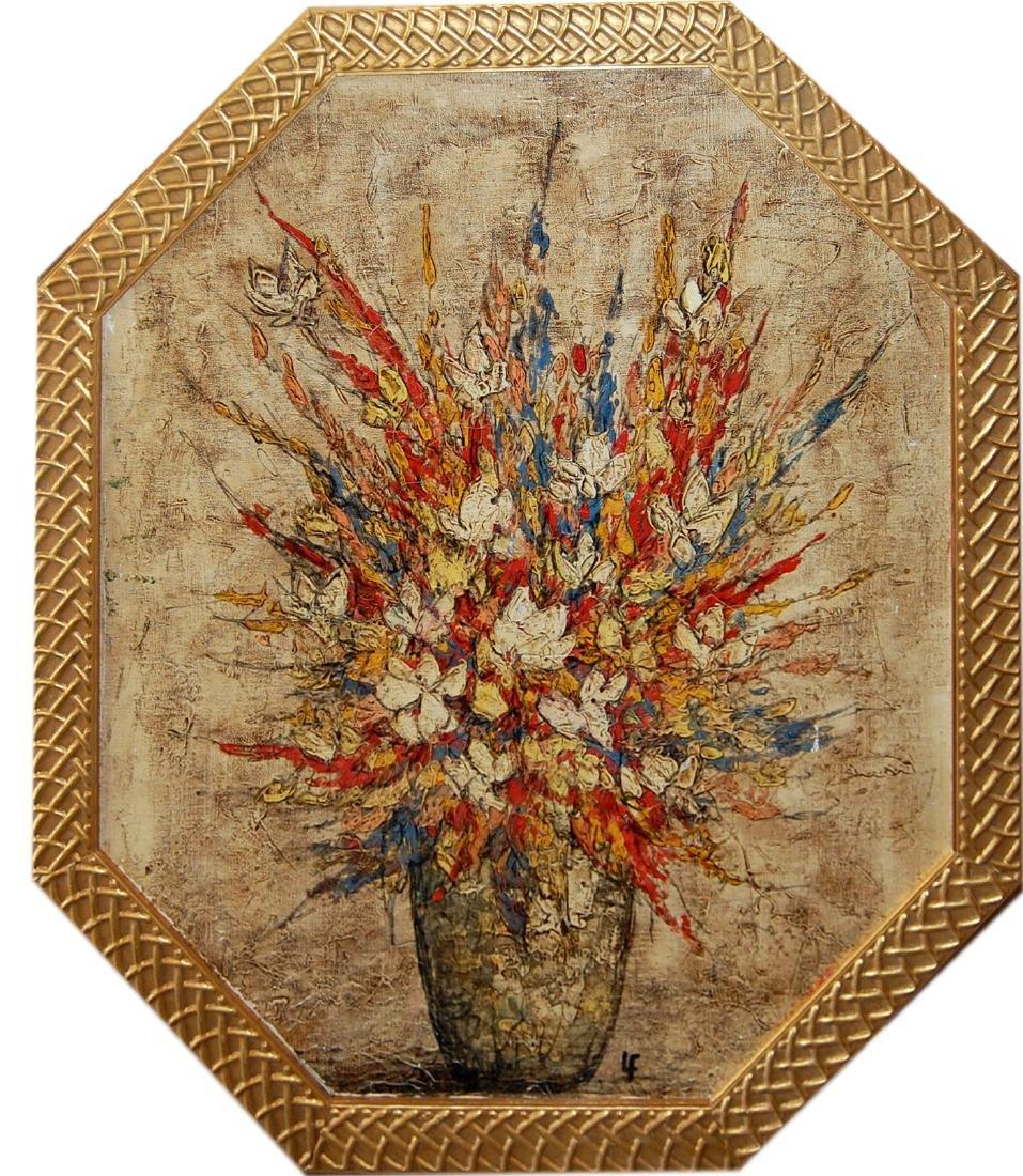 Signed LF (signed illegibly); Bouquet de Fleurs