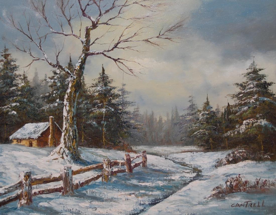 Cantrell Phillip (American 1922-); Winter Landscape