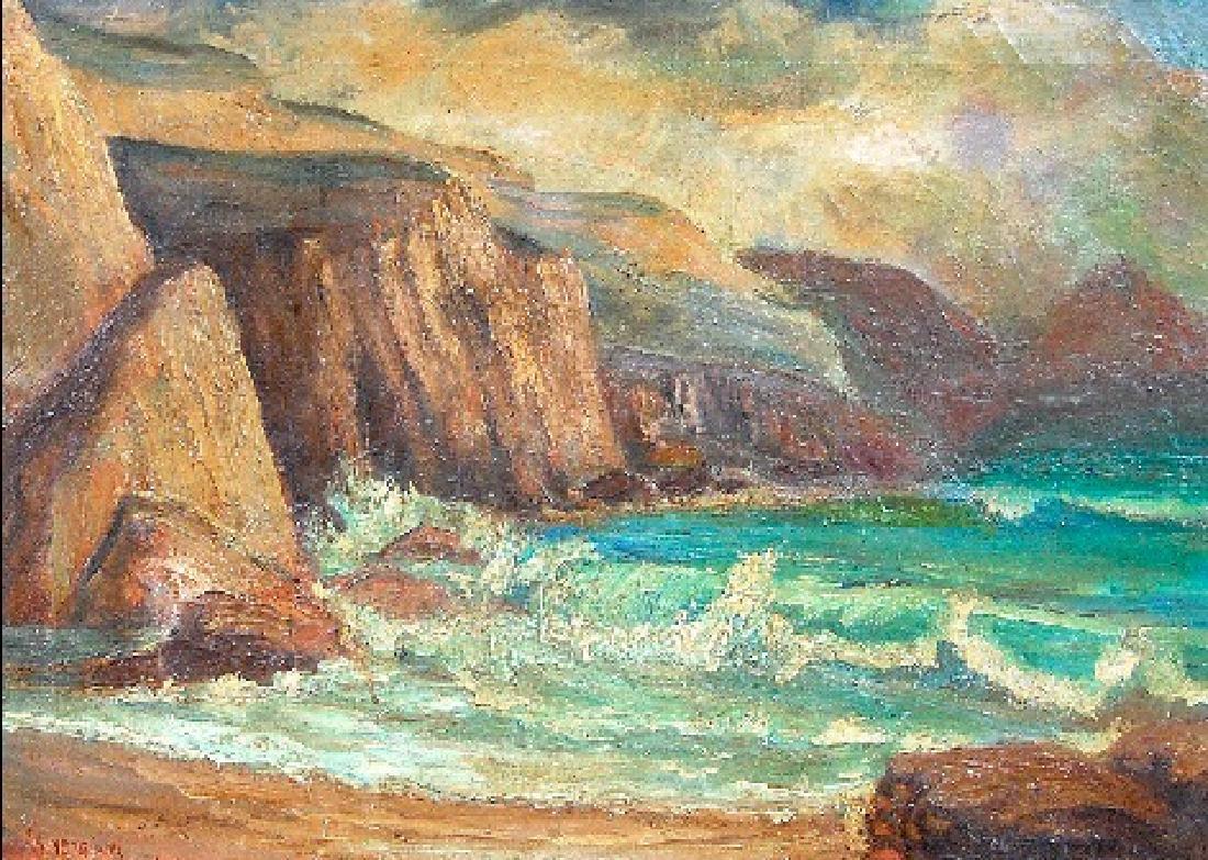 Merriam James (Canadian 1880-1951); Seascape