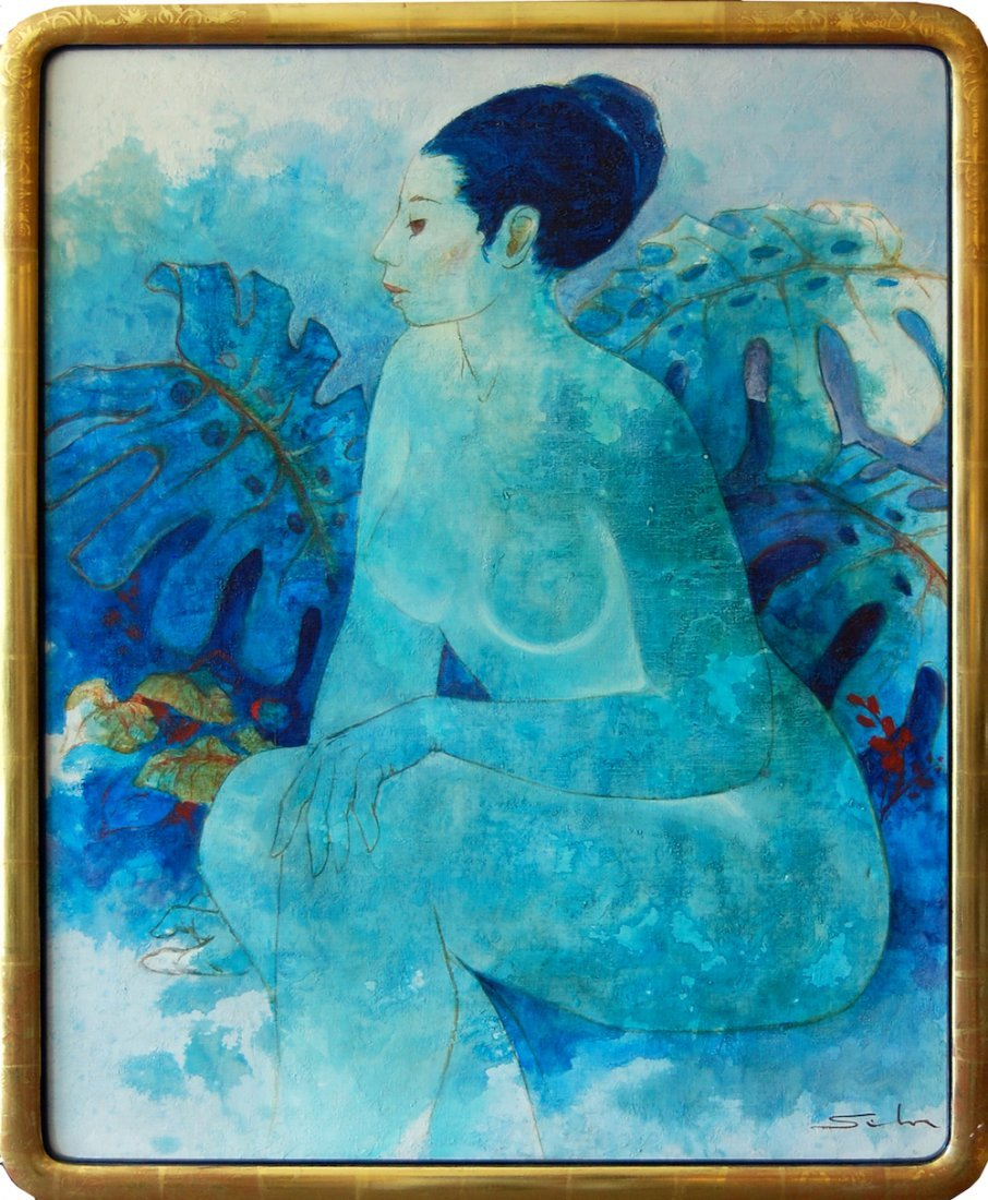 Artist unkown (signature hard to read); Blue Reverie