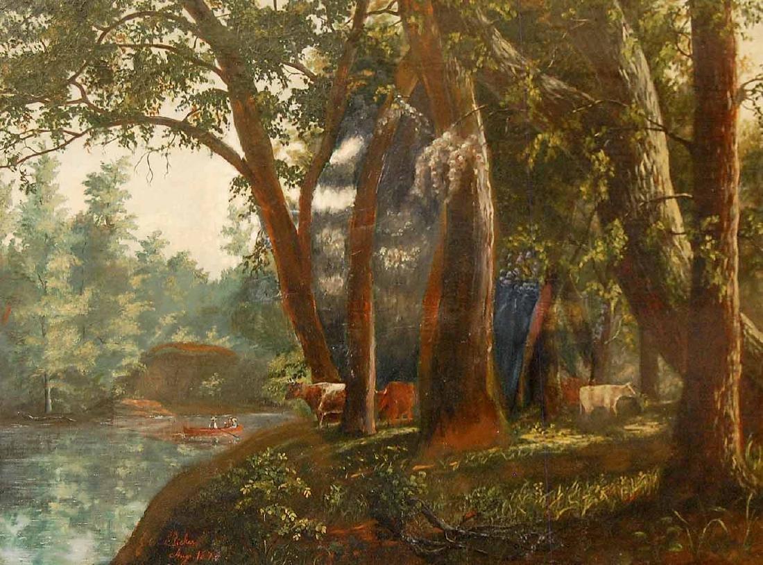 Rickers J.E (American 19th c);