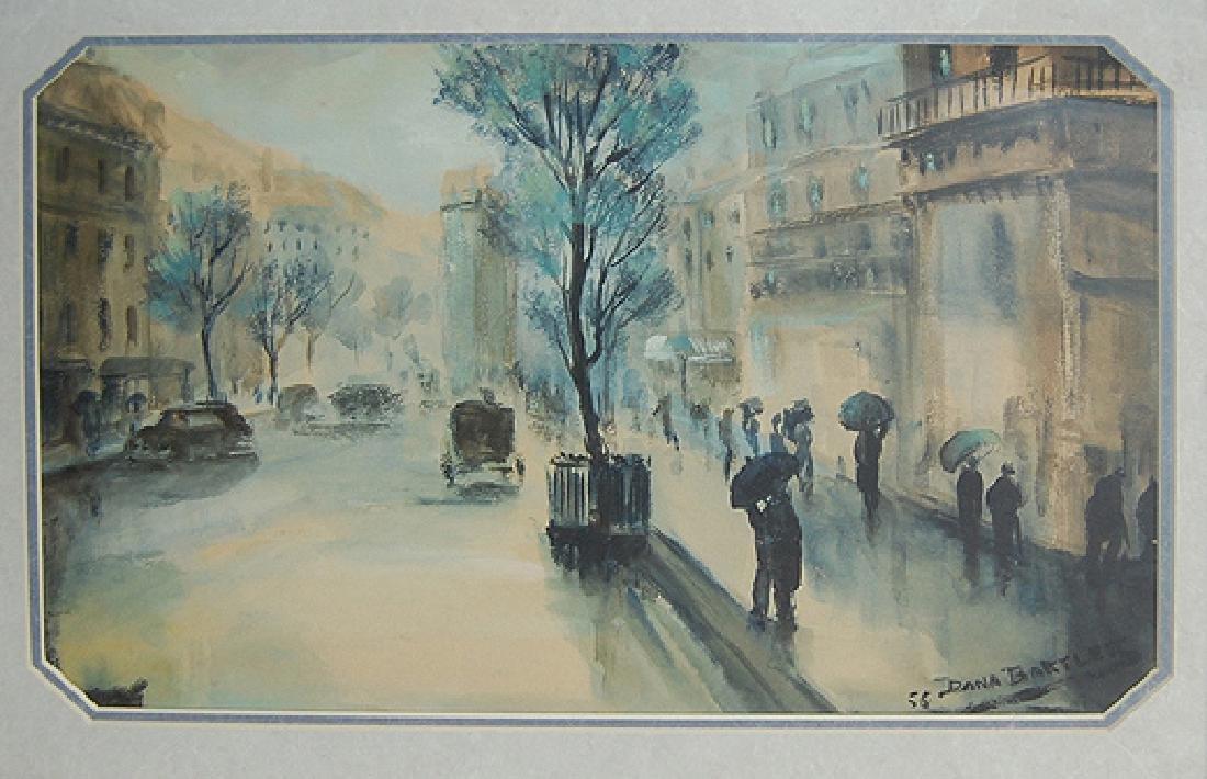 Bartlett Dana (American 1878/82-1957); Rainy Paris