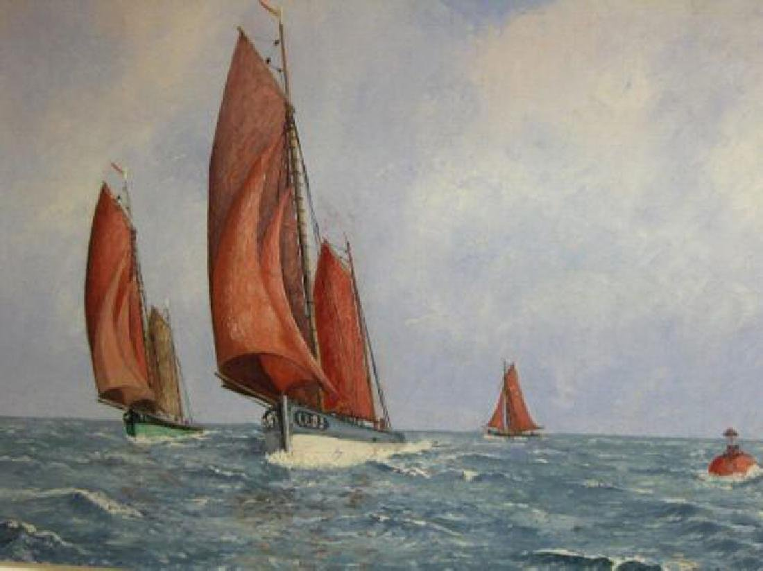 Absil Albert (Belgian 20th C.); Old Sailboats