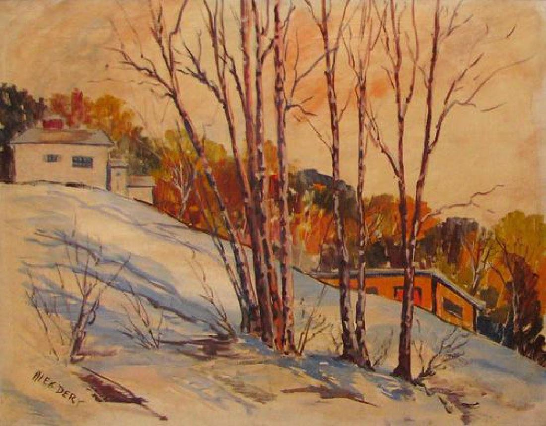 Dery Alex (American 20th c); Winter Ohio