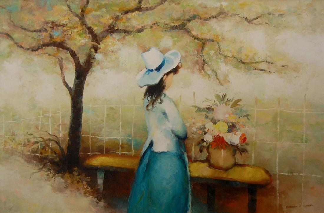 Harrison E Clark; Watching Flowers