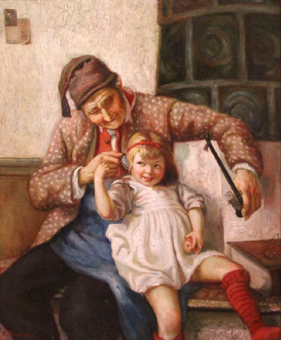Thompson E.; Old Man And Little Girl
