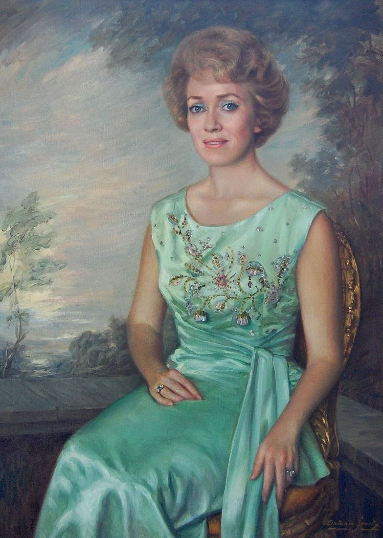 Sereix Antonio (Spanish 1931); Portrait of a Woman