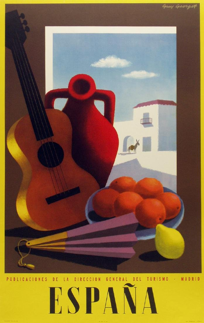 "George Guy; Original ""Espana (guitar)"" Poster"