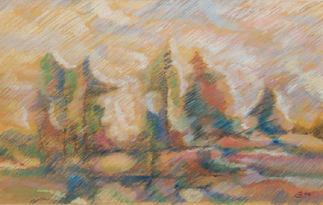 Gunther Benette (German 20th c); European Landscape