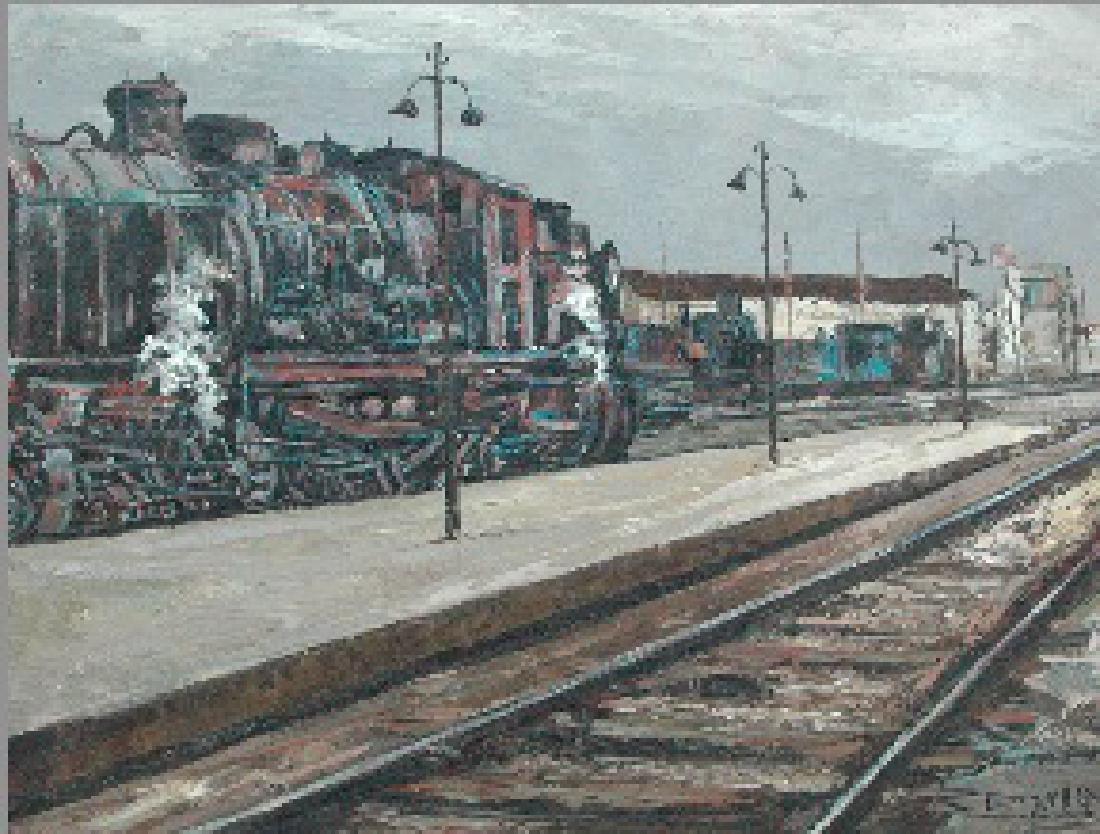 Daroca Rafael (Spanish 1927-); Maquina de Tren