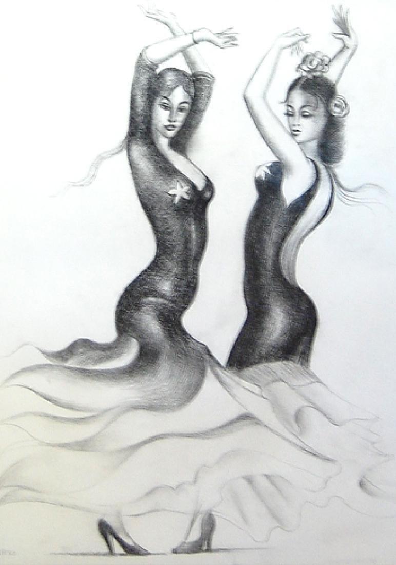 Campero Armando (Mexican 20th c); Las Bailarinas