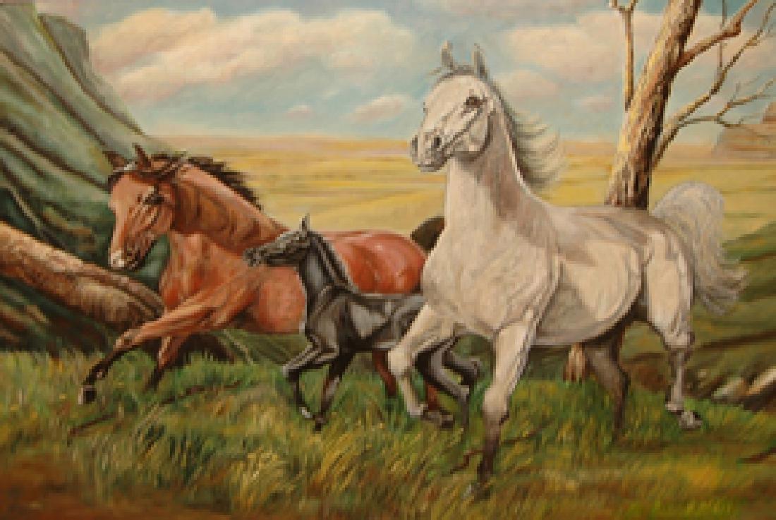 Jaudon Valerie (American 1945-); Wild Horses