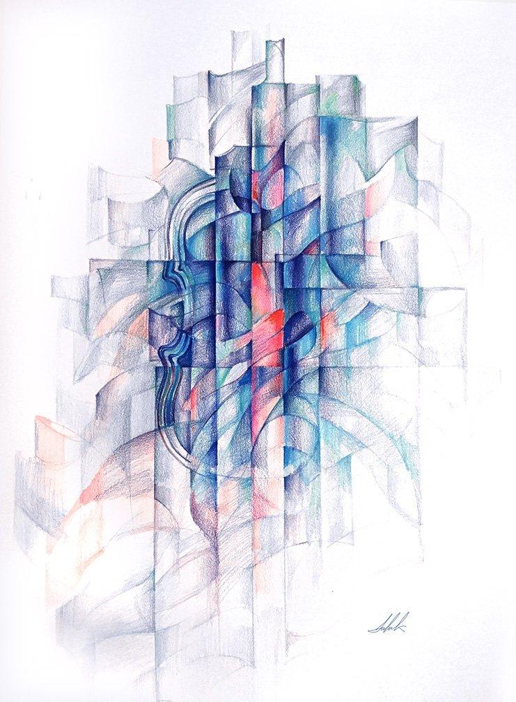 Sahak EKSHIAN (Armenian); Violin and space 2