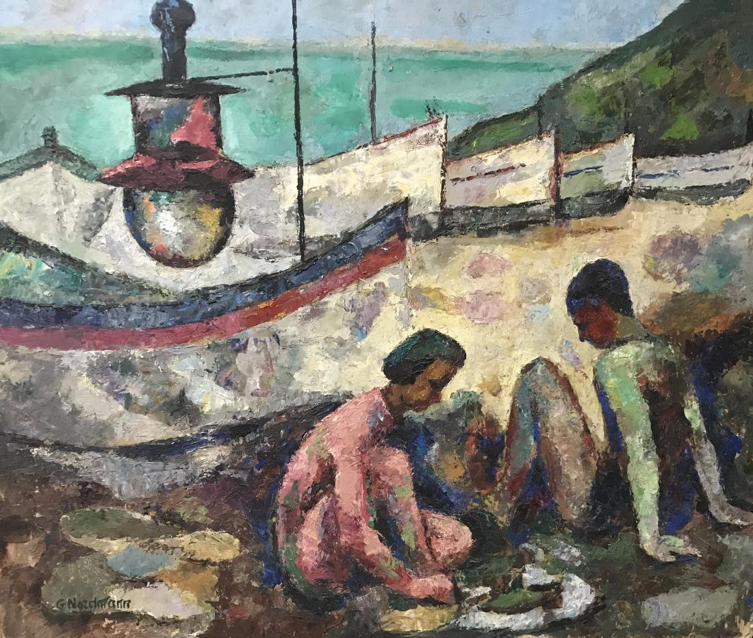 Germaine Nordmann (1902-1997); Going to the dock;